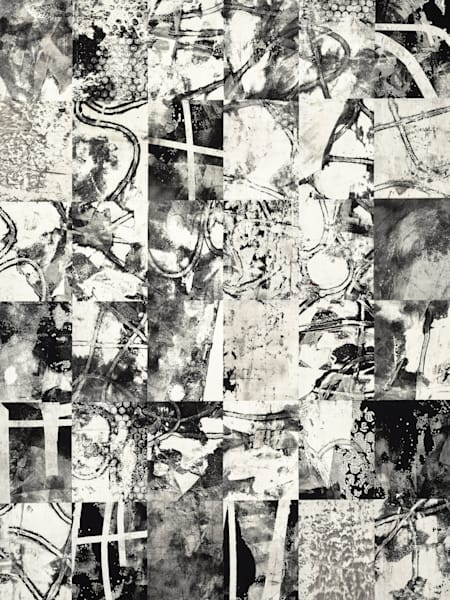 Original abstract collage art by Daniel Voelker called Ashes and Debris.