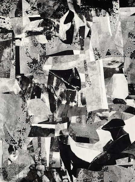 Survivor original abstract collage art | Daniel Voelker | Voelker Art