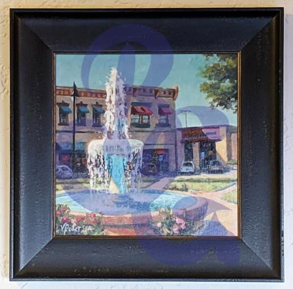 Old Town Fountain by Vicki Pedersen