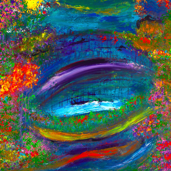 Eye On The Bridge | Abstract Art | JD Shultz Art