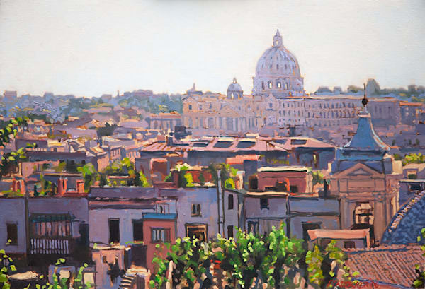 View of Rome from Borghese to Vatican