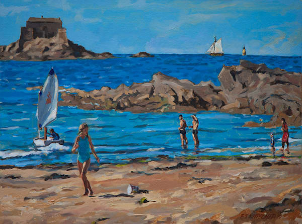 Plage De Bon Secours, St Malo Art by fountainhead