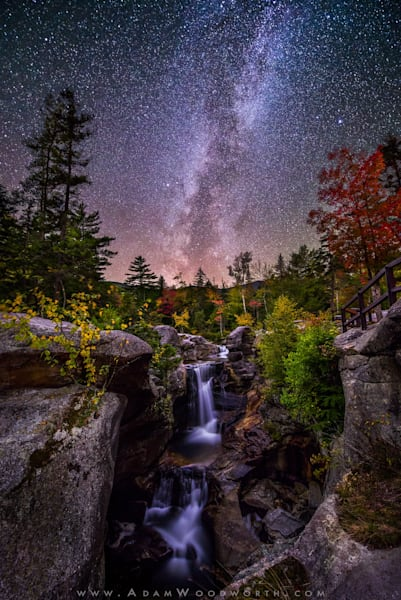Milky Way over Screw Auger Falls