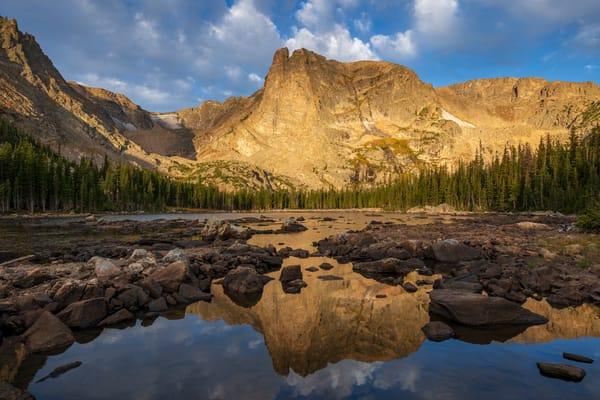 Colorado Photo Notchtop Mountain Dappled Light, Two Rivers Lake RMNP Prints for Sale