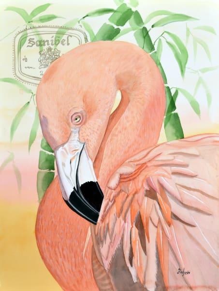 The Lone Sanibel Pelican by Sanibel artist Shah Hadjebi