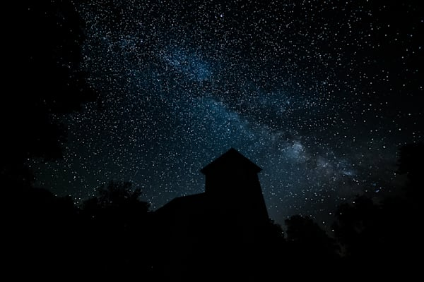 Country Church Under The Stars | Nathan Larson Photography | Astrophotography, silhouettes, milky way photos, unique star photos.