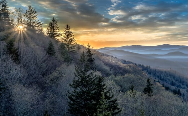 Sunrise In The Great Smoky Mountains Art | Drew Campbell Photography