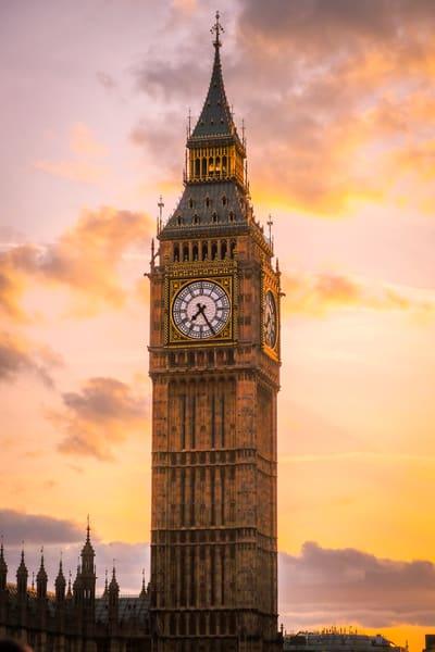Big Ben at Sunset print | Richard Crable Fine Art Photography