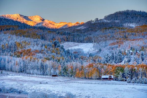 Winter meets fall in Telluride