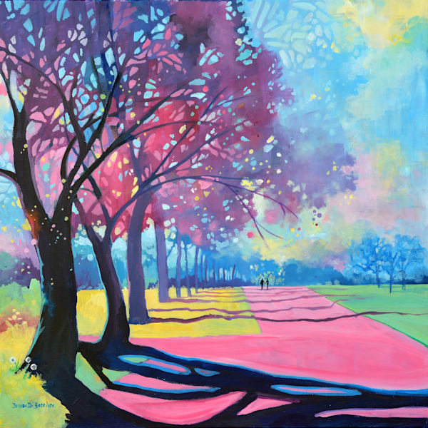 Kensington Gardens Original Painting