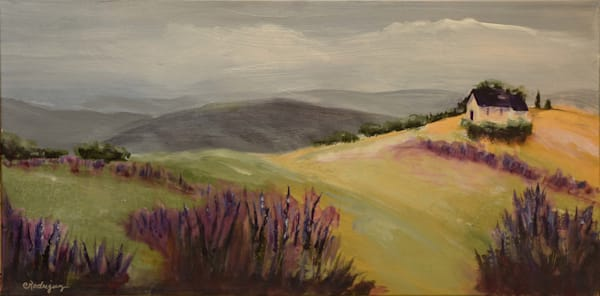 Lavendar Fields Art | Connie Rodriguez Fine Art