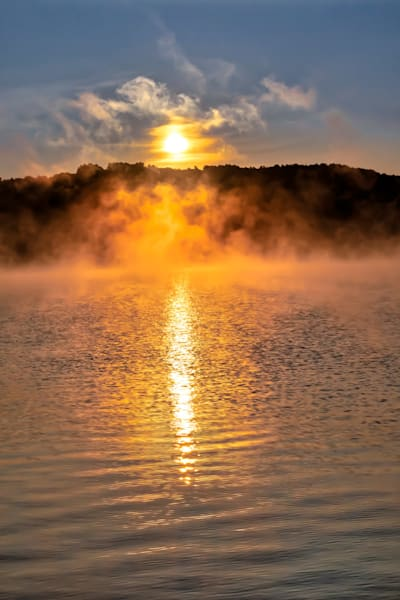 Lakeside Fog at Sunrise