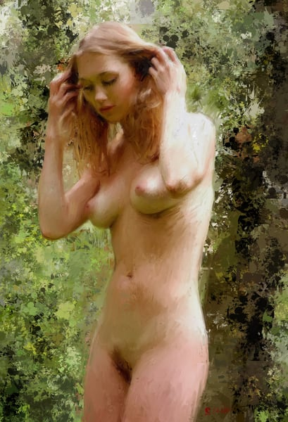 Nude in the Forest by Eric Wallis.