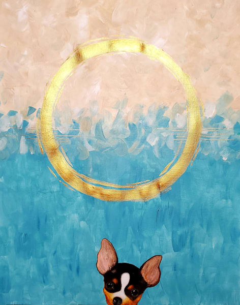 abstract chihuahua painting