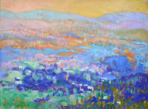 Beautiful Mountain Landscape Oil Painting by Dorothy Fagan