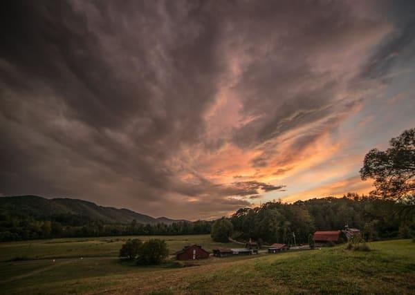 Sunset At John Campbell Folk School Art | Drew Campbell Photography