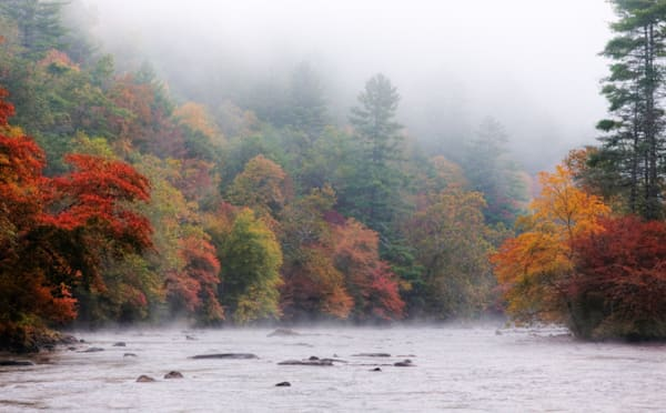 Little Tennessee River In Fall Art | Drew Campbell Photography