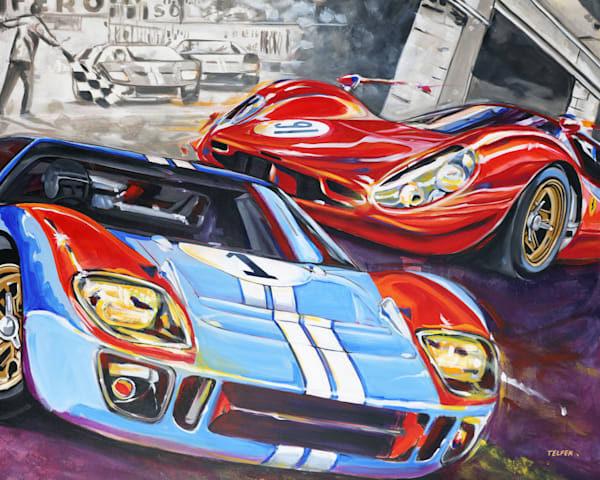 Ford Vs Ferrari  Art | Telfer Design, Inc.