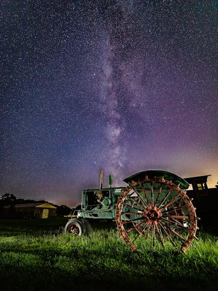 Green Tractor Milky Way