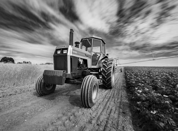 White Tractor Burst