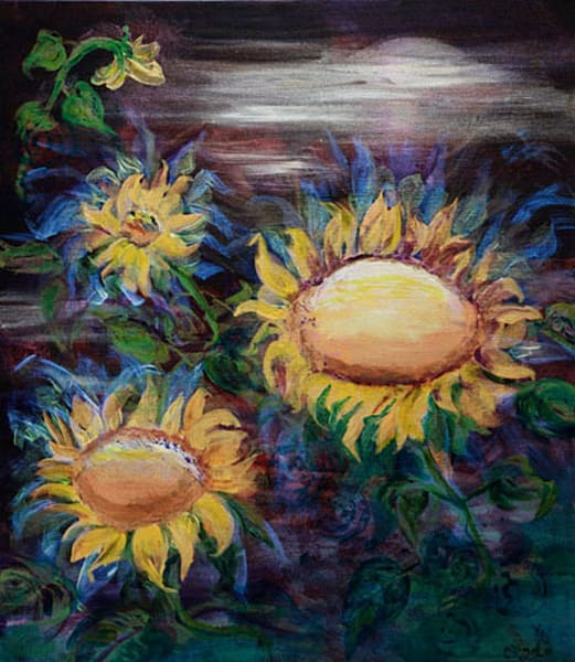 Moon Flowers Art | Connie Rodriguez Fine Art