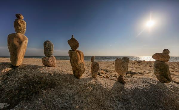 Moshup Beach Cairn Sunshine