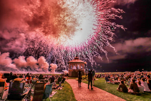 Oak Bluffs 2019 Fireworks #3 Art | Michael Blanchard Inspirational Photography - Crossroads Gallery
