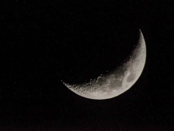 Waxing Crescent Moon Art | Drew Campbell Photography