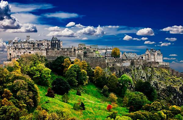 Edinburgh Castle - Scotland , Limited Edition Canvas Multimedia Art