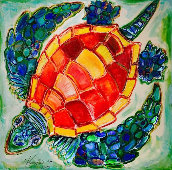 Sea Turtle Sassy Sista Art   STACIE KRUPA FINE ART - THE COLLECTION