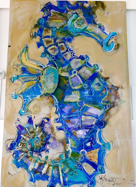 Seahorse Boss Lady Art | STACIE KRUPA FINE ART - THE COLLECTION