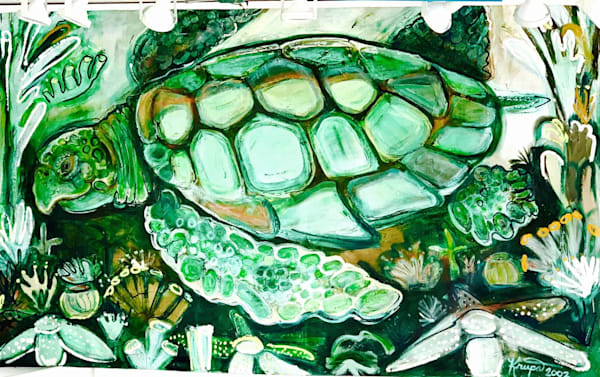 Sea Turtle Reef Nomad Art | STACIE KRUPA FINE ART - THE COLLECTION