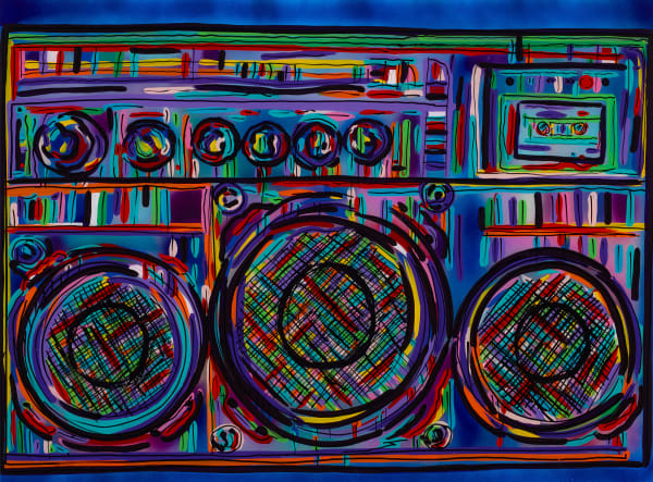 The Boombox | Music Art | JD Shultz Art