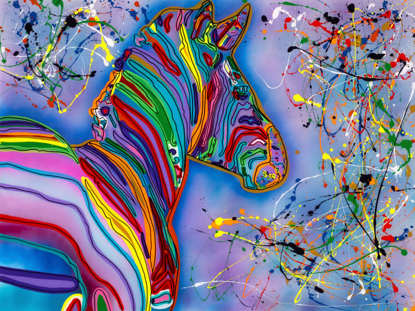 Zebra In Color | Zebra Art | JD Shultz