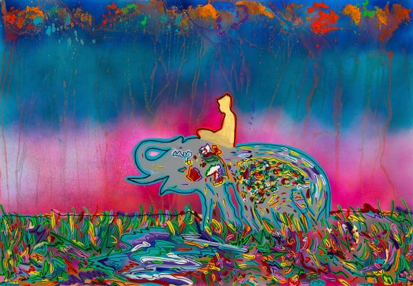 The Seek   Elephant Art   JD Shultz Art