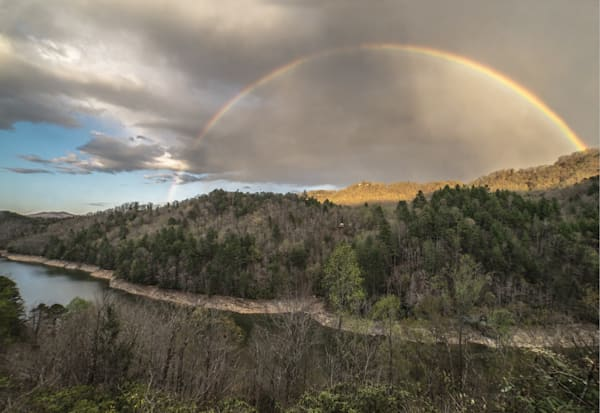 Rainbow Over Lake Fontana Art | Drew Campbell Photography