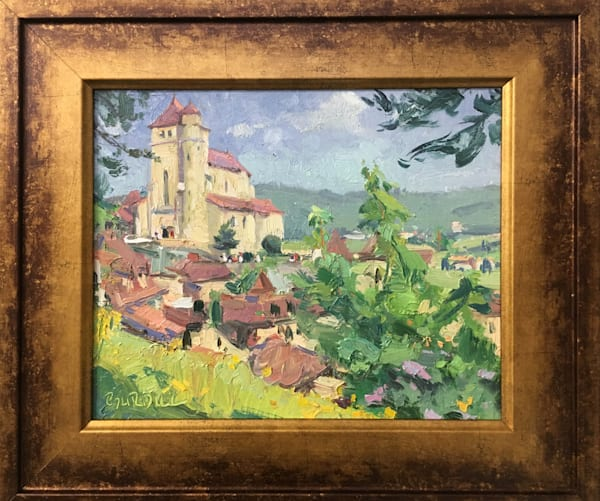 """French Town"" , original plein air painting by Scott Burdick"