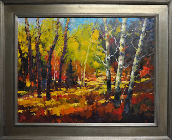 """Aspens"", original oil painting by Neil Patterson"