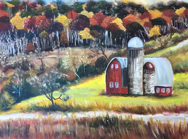 The Silos Country Landscape