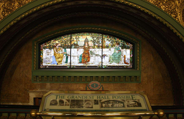 Allegorical Window At Saint Louis Union Station Art | Moore Design Group