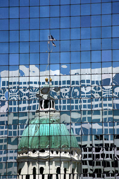 Old Courthouse Reflection Art | Moore Design Group