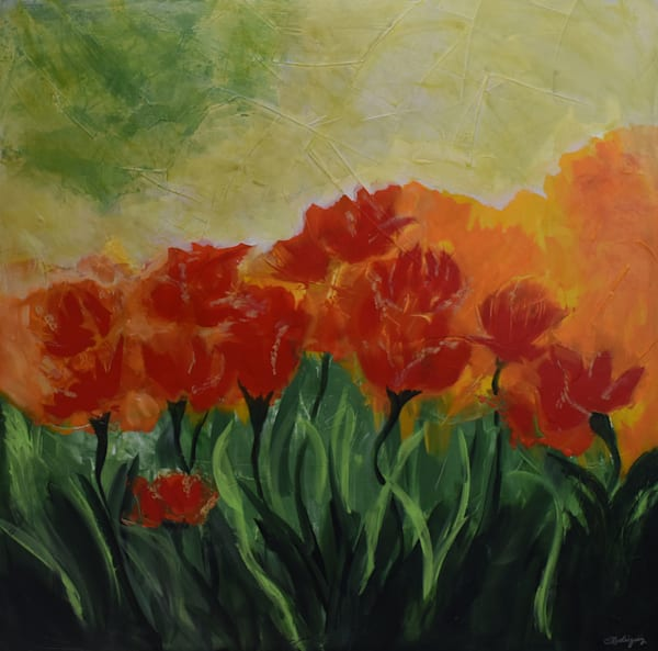 Tulips And Poppies  Location: Audacity Fine Art Gallery, Roseville, Ca Art | Connie Rodriguez Fine Art