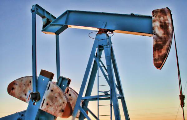 Oil pump fine art landscape