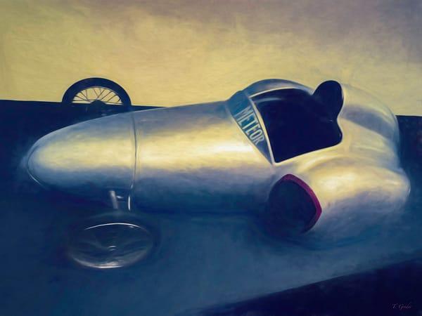 Rocket car fine art