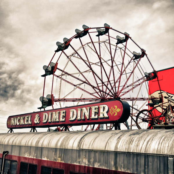 Riverfront Ferris Wheel And Diner Car Photography Art | TONYGRIDERIMAGES.COM