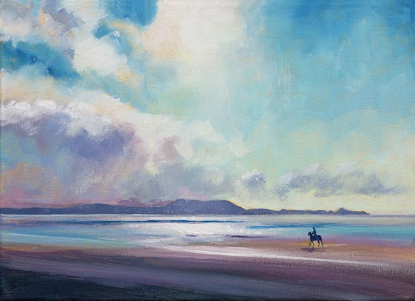Llanelli Beach Gower Art Print