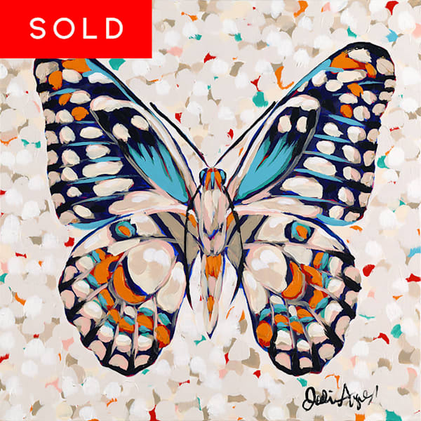 Butterfly I is an original acrylic painting by Jodi Augustine.