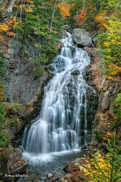Crystal Cascades of Pinkham Notch photo art prints | New Hampshire autumnal fine art
