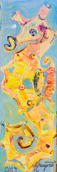 Sunshine Sassy Seahorse Art | STACIE KRUPA FINE ART - THE COLLECTION