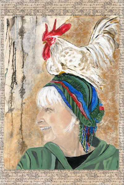 Robyn Kruse - Self Portrait with Chicken